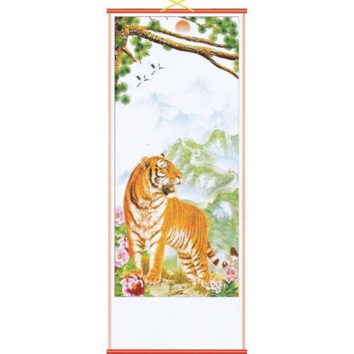 Royaume-Uni vendeur Mountain tigre chinois mur hangng parchemin Gratuit Uk p/&p