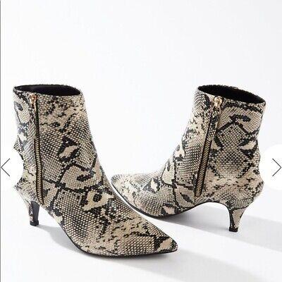 Miss Selfridge Snakeskin Print Ankle