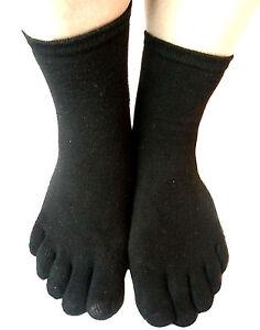 Coton-riche-6pairs-Mesdames-femmes-cinq-orteils-Socquettes-une-taille-reguliere