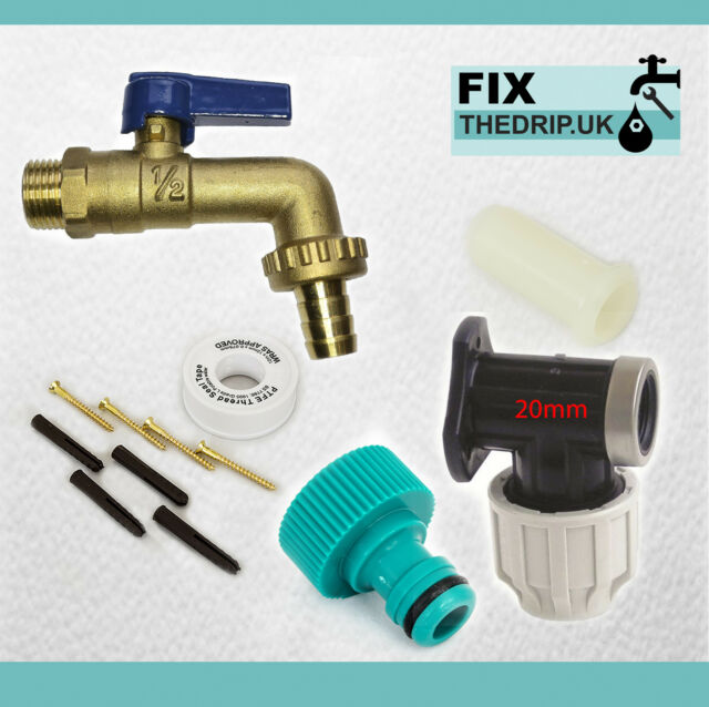 Garden Hose Snap In Dual Shut Off Tap Connector Attach 2 Hoses Fits Hozelock