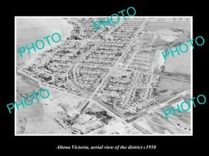 OLD-LARGE-HISTORIC-PHOTO-OF-ALTONA-VICTORIA-AERIAL-VIEW-OF-THE-DISTRICT-c1950