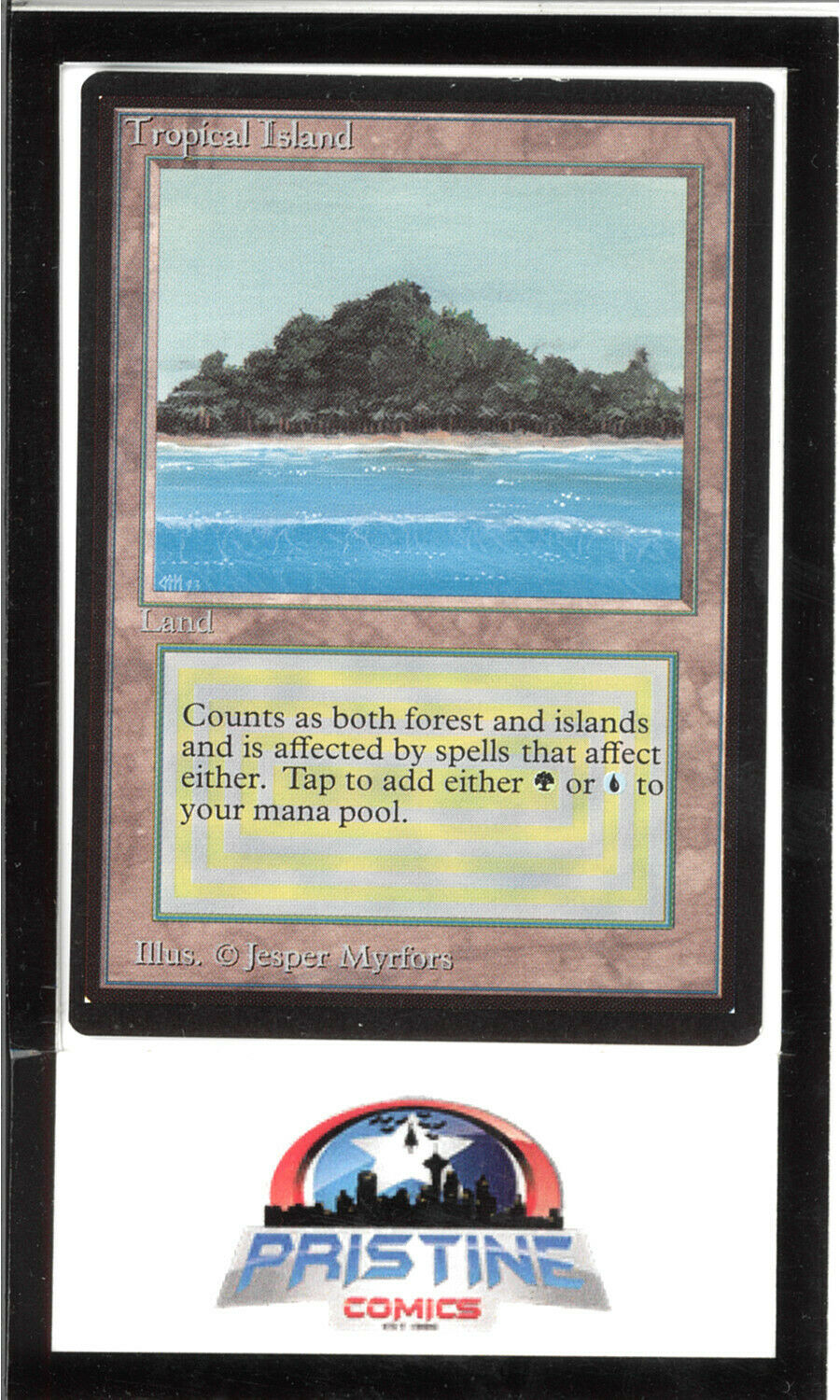 Tropical Island - Collector's Edition - MTG Magic - Clipped Corners