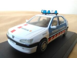 Antigua Miniature échelle 1:43 Carr Rs023 Peugeot 306 1999 Mossos Escuadra.