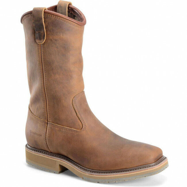 DH6502 Double H Men's WTPF Wide Square Safety Boots - Brown