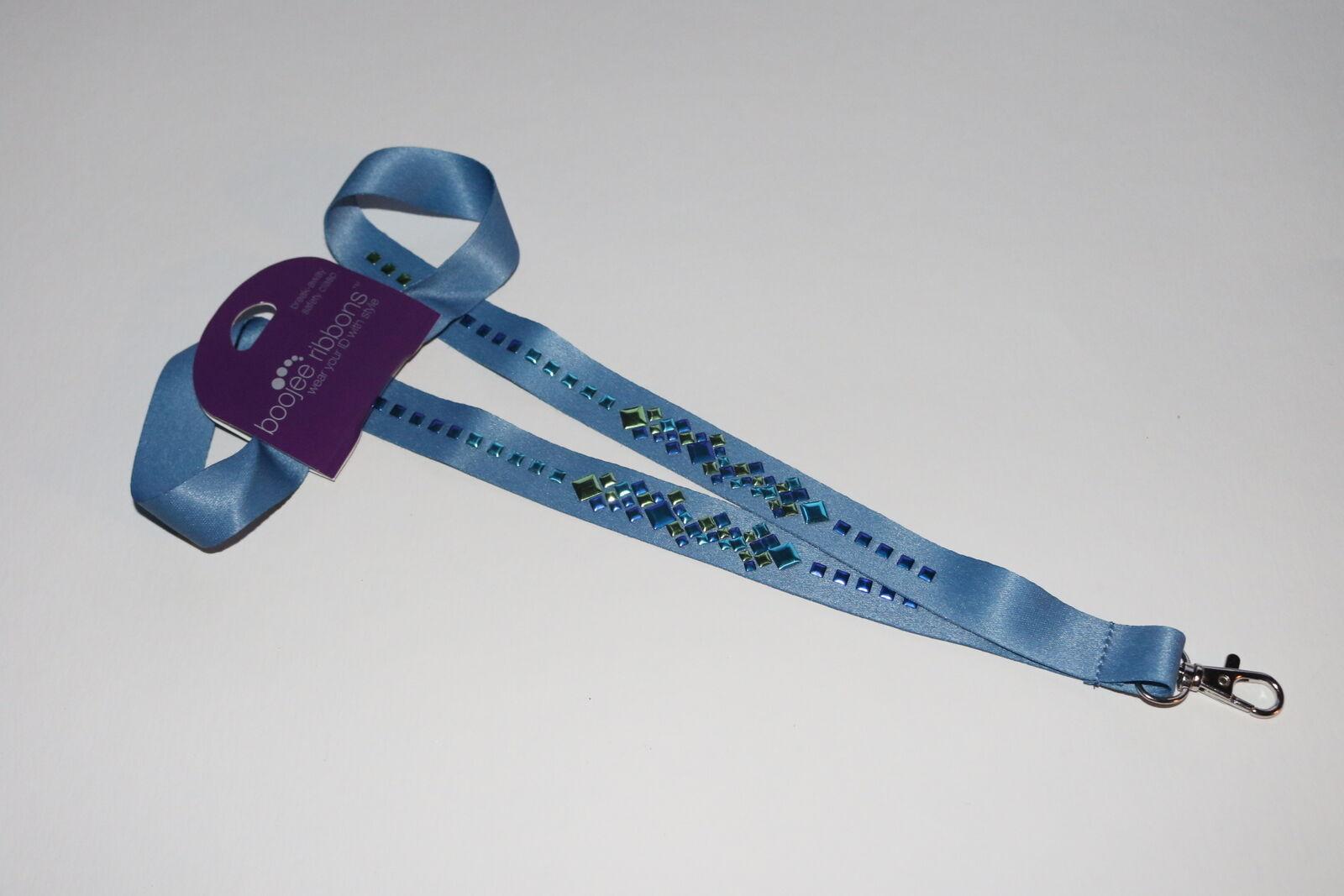 BooJee Ribbons Femmes Mode Cordon Id Badge Support - Bleu Glacier 100391