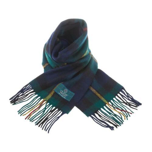 Scottish 100 /% Lambswool Tartan Clan Scarf Macewan Brand New Made In Scotland