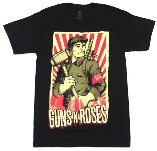 Guns N Roses Propaganda 2011 Tour FL-UT Black T Shirt New Official GnR Merch