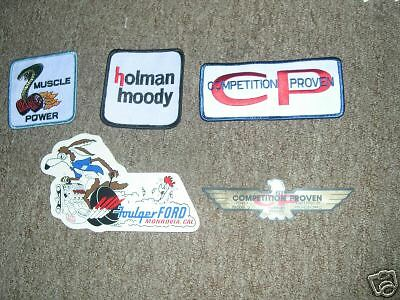 1960's Ford HOLMAN MOODY 427 Performance Stickers Patch