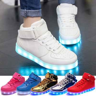 Unisex Casual Sneaker Women men USB Charge Luminous LED Light Up Fashion Shoes