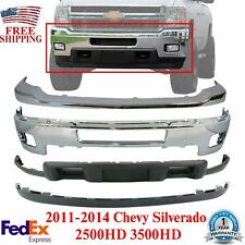 Front Bumper Kit Chrome Steel With Fog For 2011 2014 Chevy Silverado 2500hd 3500 Fits More Than One Vehicle