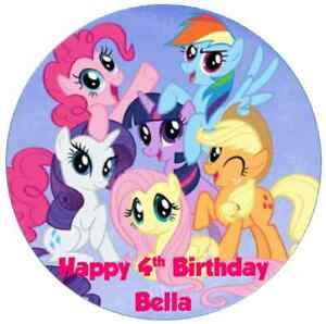 Image Is Loading Personalised 19cm My Little Pony Edible Wafer Paper