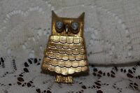Avon Vintage 1968 Jeweled Owl Pin.....with Some Glace
