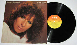 England Pressing BARBRA STREISAND Love Songs LP Record