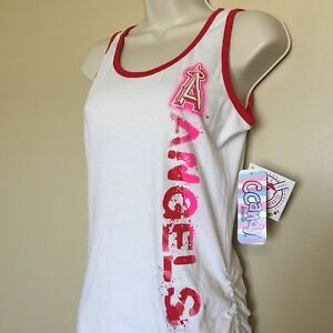 Girls Youth Size L Large 14 MLB Los Angeles Angels Tank Top New ... c778d3ac917