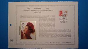 FRANCE-DOCUMENT-ARTISTIQUE-YVERT-2461-LIBERTE-BICENTENAIRE-DIJON-1987-L535