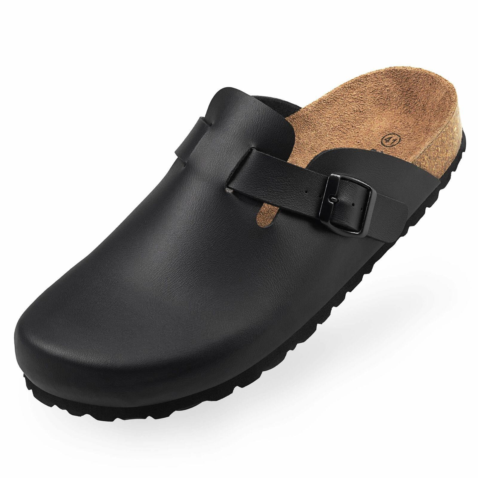 BOnova Unisex Hausschuhe in 4 Farben geschlossene Pantoffeln mit Fußbett A