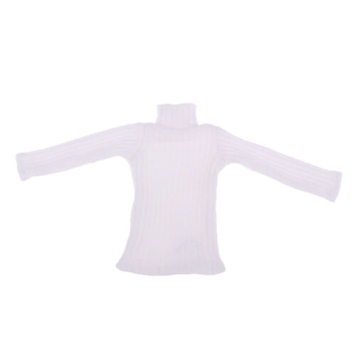 1//6 Male Fashion Turtleneck Sweater for 12/'/' Action Figure Hot Toy White