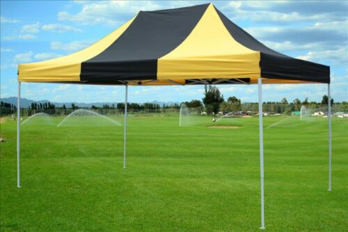 F Model Upgraded Frame 10/'x15/' Pop Up Canopy Party Tent EZ Black Yellow