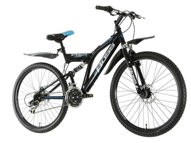 a59fd1f4f38 Mens Full Suspension Mountain Bike Disc Brakes Front Rear 26