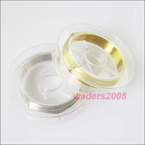 2 Nouveau Cordons cuivre 10 m//Rouleau Fil Bijoux Pour Craft À faire soi-même 10 m Or ou Argent