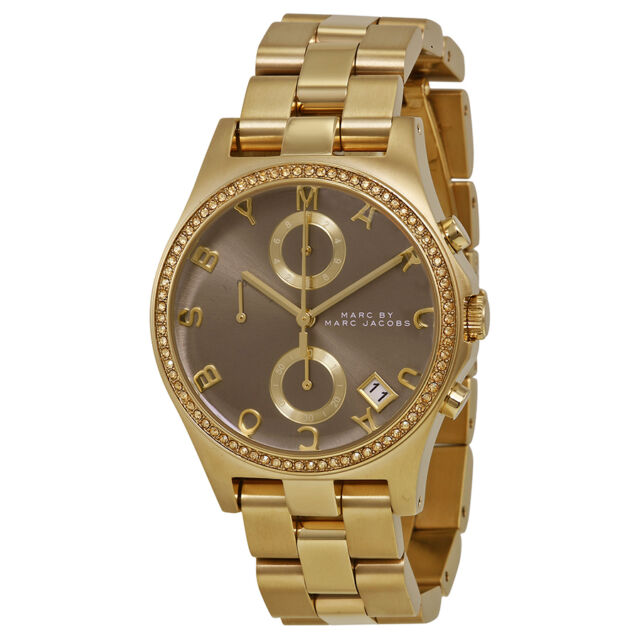 Marc by Marc Jacobs Henry Chronograph Grey Dial Gold-tone Ladies Watch MBM3298
