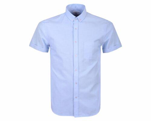 Crosshatch Firetrap Smart Casual SHIRT Cotton Blend Short Sleeve Summer T Shirt