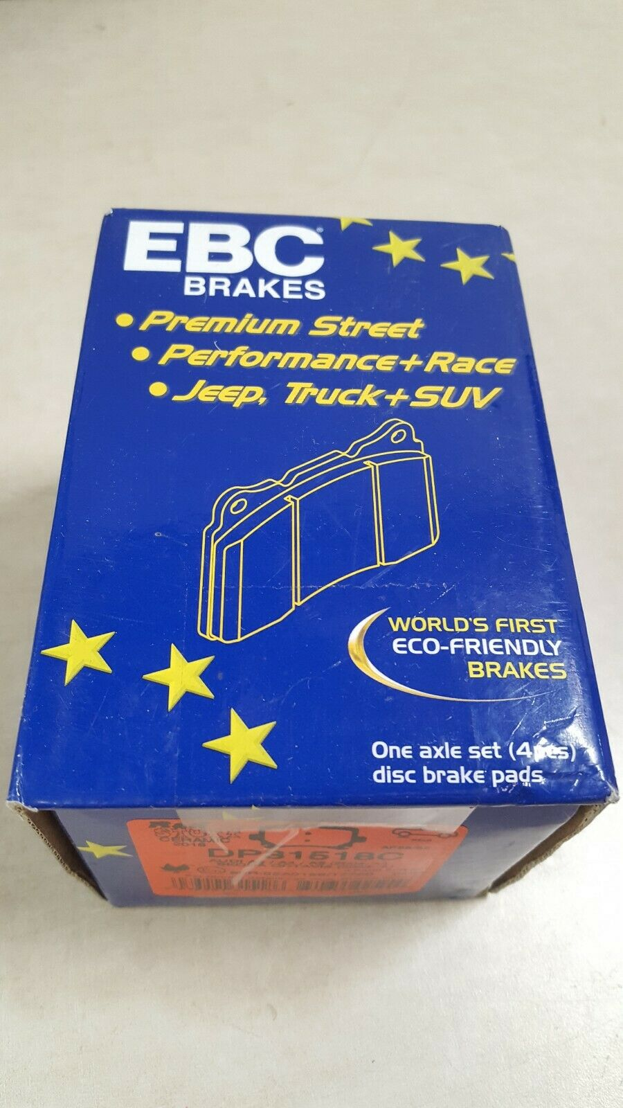 EBC Brake Pad Sets 2-Wheel Set Rear Driver /& Passenger Side New for VW DP31518C
