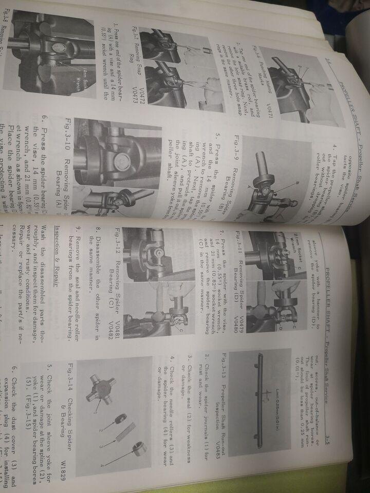 Værkstedsbøger, Toyota Corolla 1100 sæt