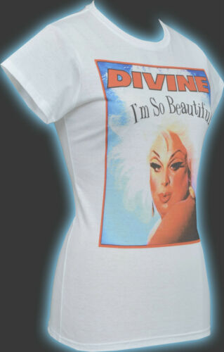 2XL LADIES WHITE T-SHIRT DIVINE DRAG I/'M SO BEAUTIFUL JOHN WATERS HAIRSPRAY S