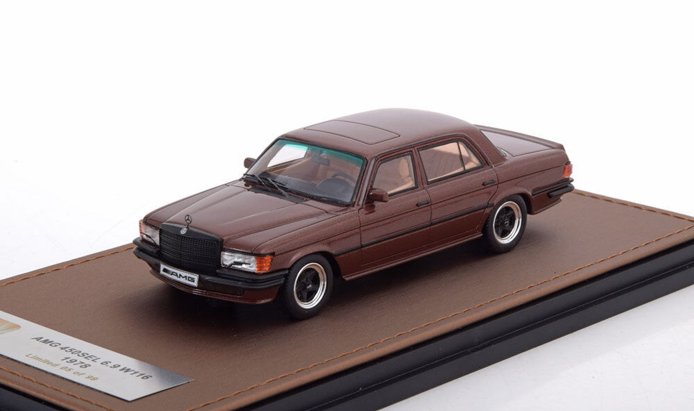MERCEDES AMG 450 SEL 6.9 W116 1978 marróne METAL GLM 206002  BENZ marróne