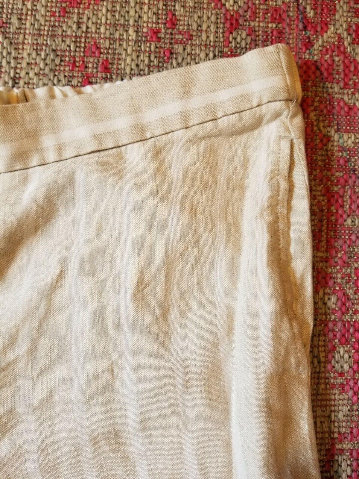 LOFT Sz L- Striped Wide Leg Crop Pant Beige White… - image 2