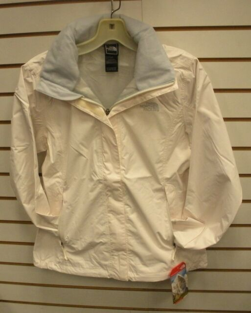 THE NORTH FACE WOMENS RESOLVE WATERPROOF JACKET -AQBJ- GARDENIA WHITE - S,M,L