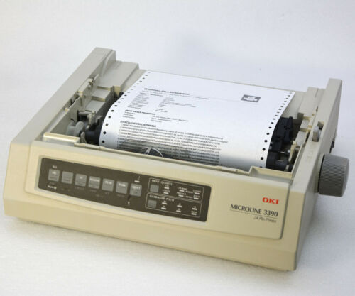 PARALLEL+ USB DOTMATRIX PRINTER OKI 3390 24 PN FOR MS DOS WINDOWS XP 7 8 10