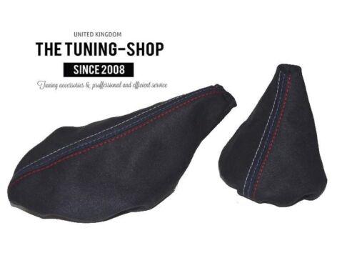 BLACK STITCHING SUEDE SHIFT /& E BRAKE BOOT FITS BMW E30 82-91 M3 ////// STITCH
