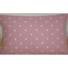 "NEW 20""x12"" Oblong Bolster Cushion Cover Pink White Polka Dots 12x20 Spots 20x12"
