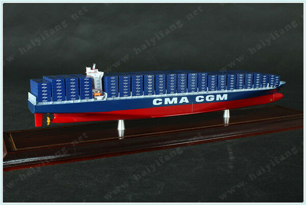 CUA-CGM 35cm shipping container ship model and case