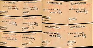 GB PARCEL POST 1948-49 GPO MOUNT PLEASANT OFFICIAL PAID MACHINE...10 CARDS...L3