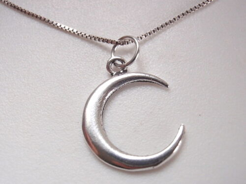 Crescent Moon Pendentif Argent Sterling 925 Corona Sun Jewelry