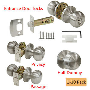 Image Is Loading Entry Privacy Passage Dummy Door Lock Sets Brushed