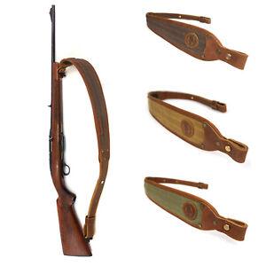 Leather-Rifle-Sling-Canvas-Shotgun-Strap-Padding-Gun-Shoulder-Straps-Hunting