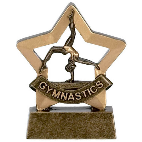 Gymnastics Trophy engraved free Female Poirier Gym Mini Star Award Trophies