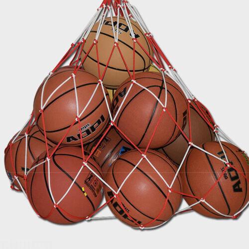 10 balls Storage Bag Football Basketball Draw Cord Mesh Sack Ball Carry Nets