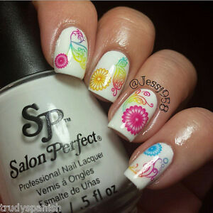 Nail-Art-Stickers-Nail-Water-Decals-Nail-Transfers-Neon-Lace-Flowers-Swirls-215