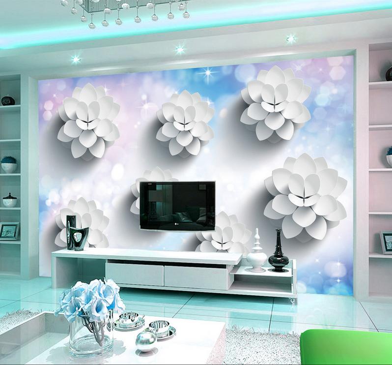3D Weiße Blumenmuster 66 Tapete Tapeten Mauer Foto Familie Tapete Wandgemälde DE