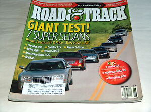 Road-amp-Track-June-2004-Car-Truck-Magazine-7-Super-Sedans-Jaguar-BMW-Volvo-Audi