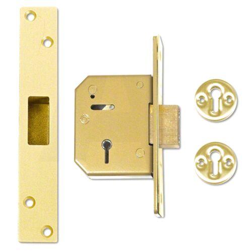 67mm 5 Lever Mortice Deadlock UNION //CHUBB Brass 3G115-