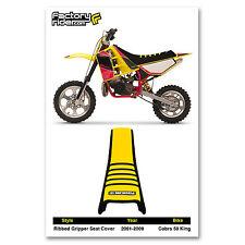2001-2009 COBRA 50 KING SEAT COVER GRIPPER Black/Yellow/Black Ribs by  Enjoy MFG