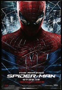 THE-AMAZING-SPIDER-MAN-2012-2-Sided-Bus-Shelter-Movie-Poster-4-039-x6-039-FREE-SHIPPING