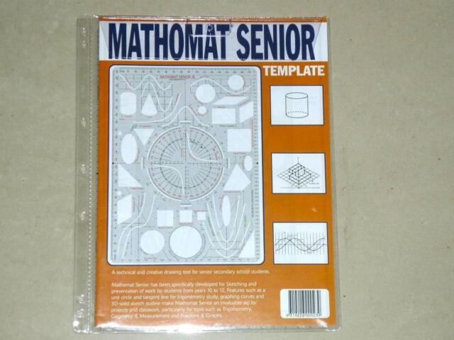 Promo Mathomat Senior Template Geometry Math Stencil Technical ...