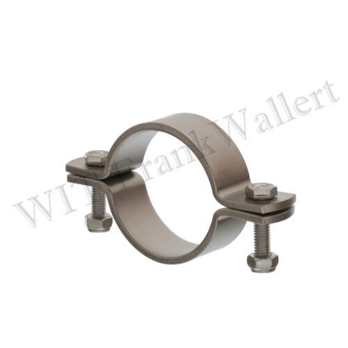 "Edelstahl Rohrschelle 76,1 mm 76,2 mm 76 mm  3/"" ohne Schaft 1.4301"